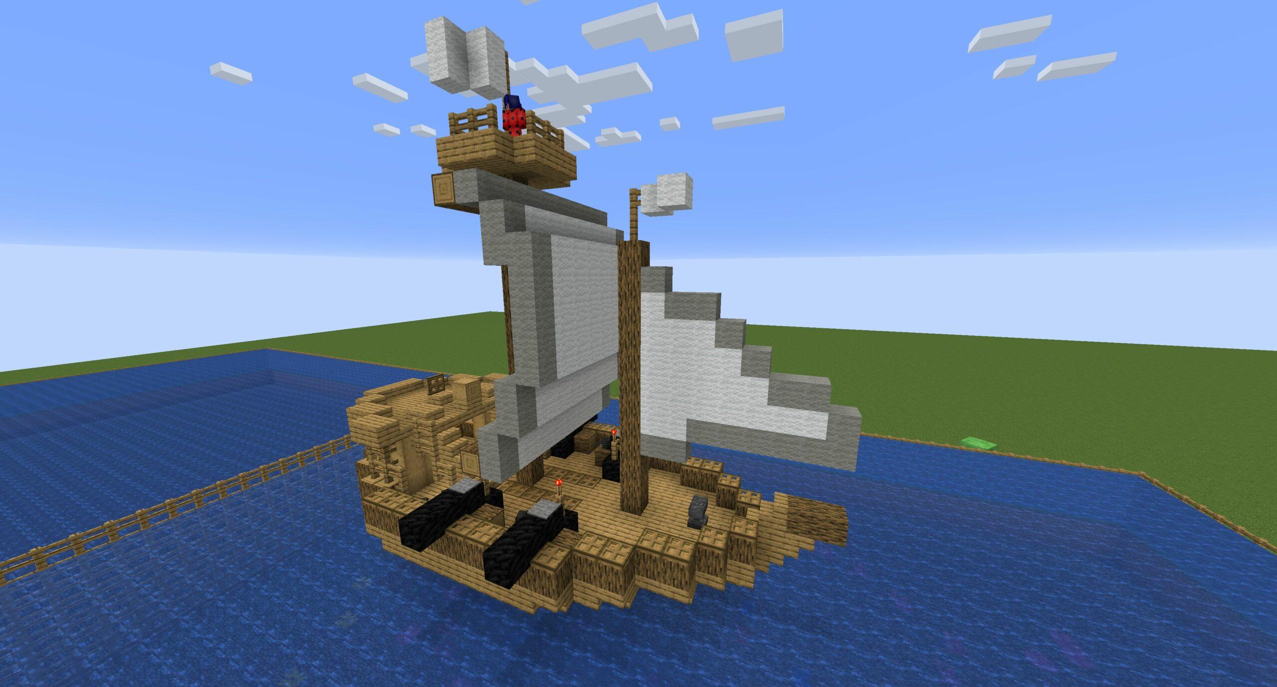 Minecraft Schiff